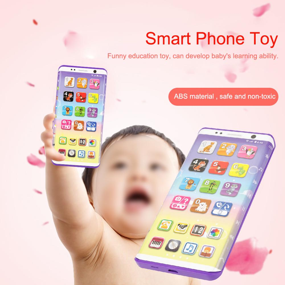 Educational Kids Phone Toys Smart Phone Toy Touch Screen English Learning Toy