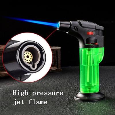 Windproof Refillable Lighter Butane Gas Jet Flame Torch Camping Lighter