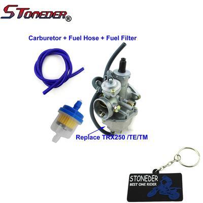 STONEDER 27mm Carburetor Fuel Filter Fuel Hose For TRX250 TRX250TE TRX250TM  ATV Quad 4 Wheeler