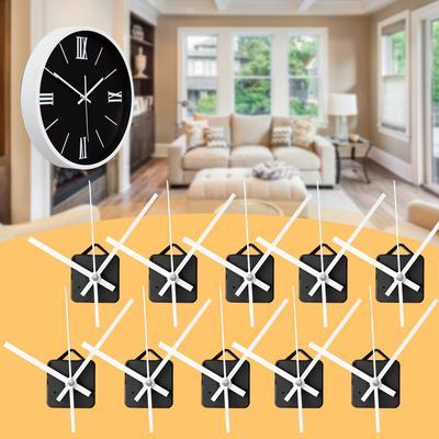 5 10 20 PCS White Triangle Hands DIY Quartz Black Wall Clock Movement Mechanism Repair Part Tool Kit Hardware Gift Home Decor Silent
