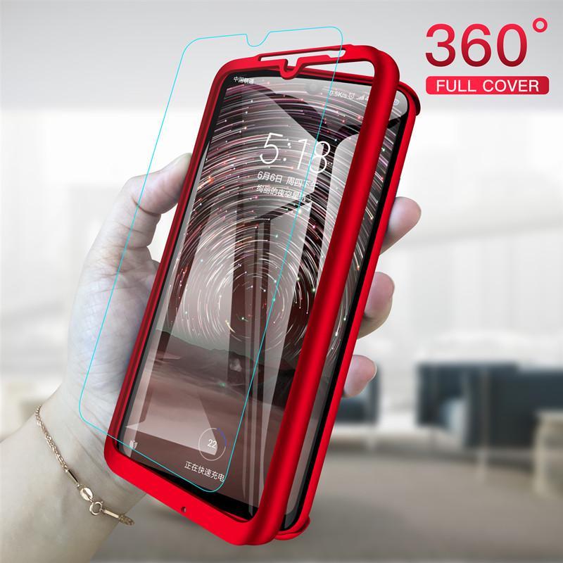 Роскошный 360 Степень Полная обложка Телефон Кейс »Температура стекла для Xiaomi Mi 6 7 8 Redmi 7 GO K20 7A и т.д..