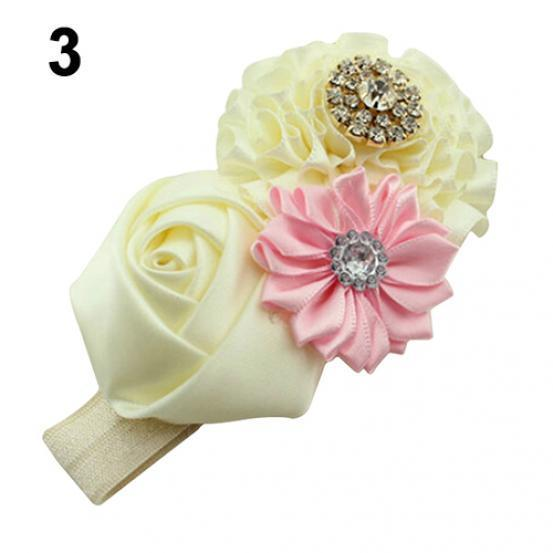 Newborn Baby Girls Lace Flower Headband Infant Toddler Hair Band Accessory Bling