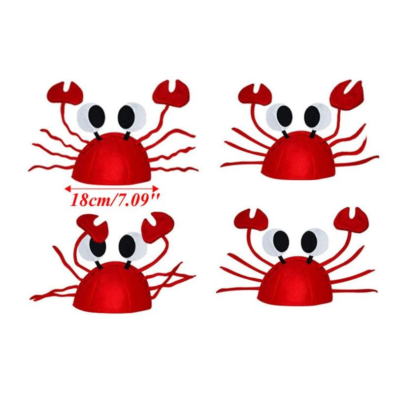20pcs Lobster Crab Sea Animal Masque Costume Party Hats Fancy Dress Headgear Cap