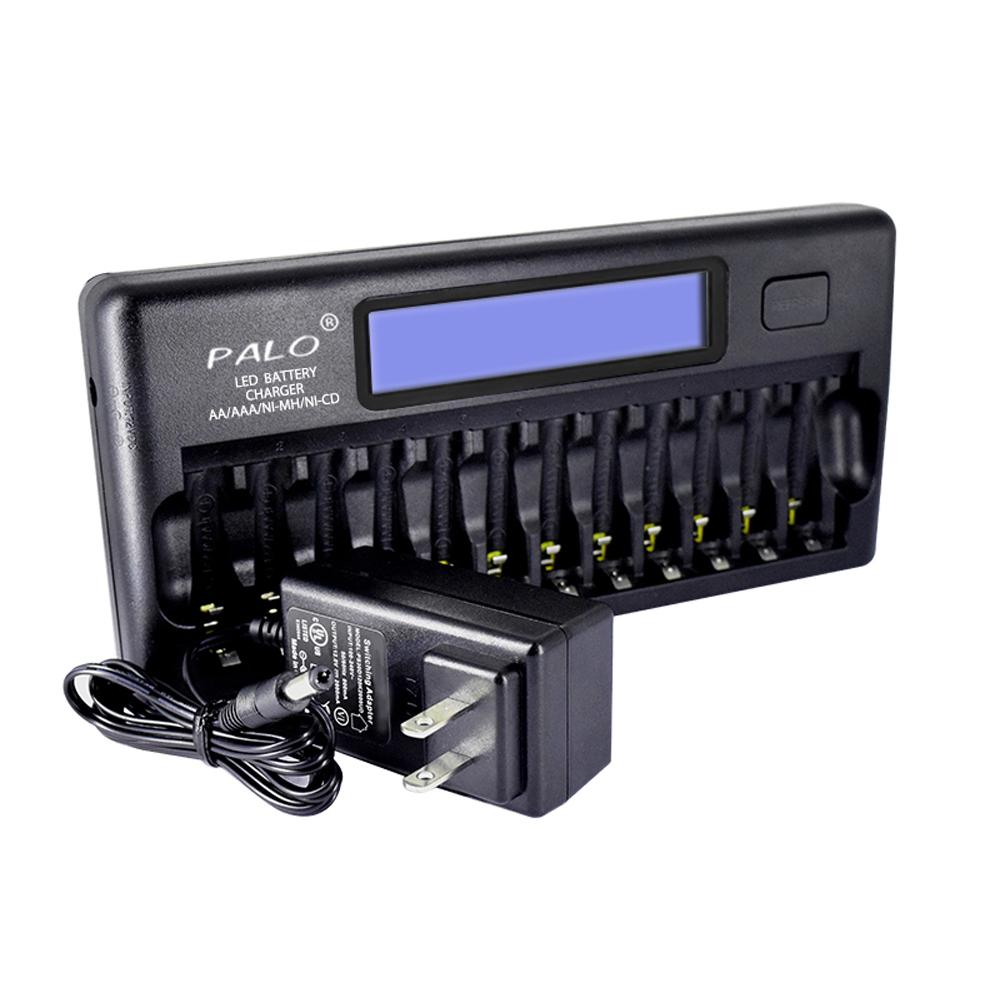 PALO Smart LCD Rechargeable NiCd NiMh AA AAA C D lithium Battery Fast Charger