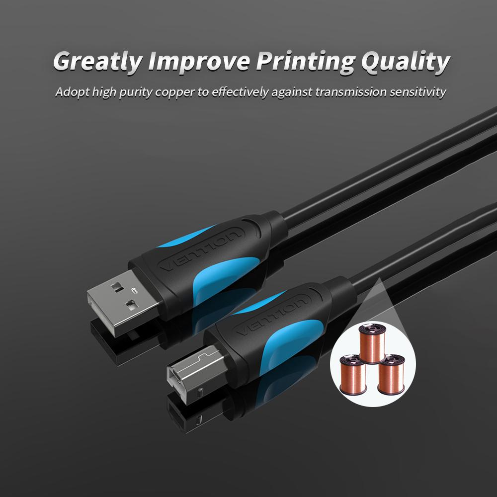 Vention USB2.0 A Male to B Male Printer Cable High Quality! 1M//1.5M//2M//3M//5M