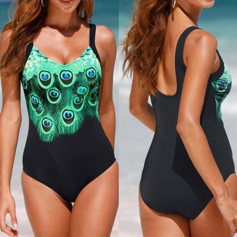 Eeoth Swimsuits for Women,Strap Backless One-Piece Bathing Suit Tummy Control Solid Swimwear Swimming Bodycon Monokini