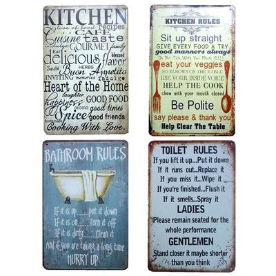 Buy cheap bathroom rules sign — low prices, free shipping