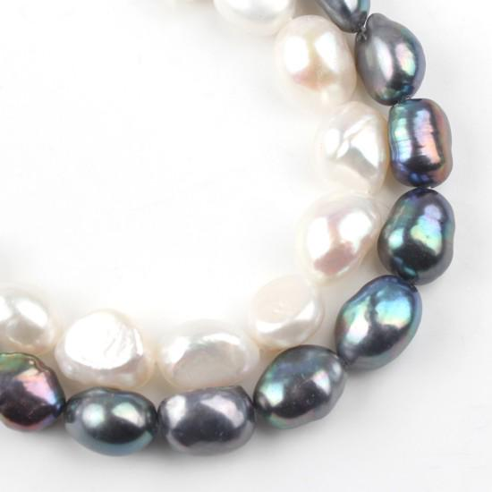 """7-8mm Natural Black Freshwater rice Pearl Loose Beads for Jewelry Making DIY 14/"""""""