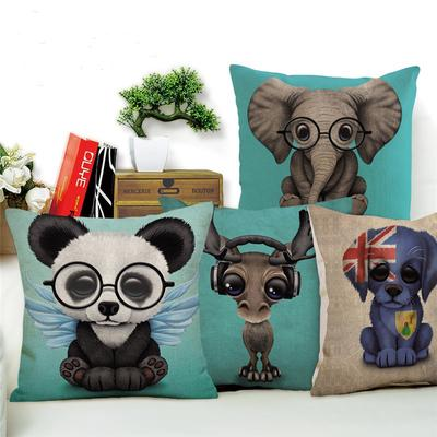 Cartoon Animal Cushion Cover Pug Dog Cotton Linen Pillowcase Buy At A Low Prices On Joom E Commerce Platform