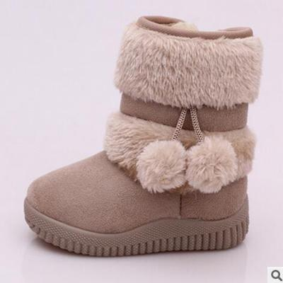 Girls Snow Boots Fashion Comfortable Thick Warm Kids Boots Lobbing Ball Thick Children Winter Cute Boys Boots Princess Shoes