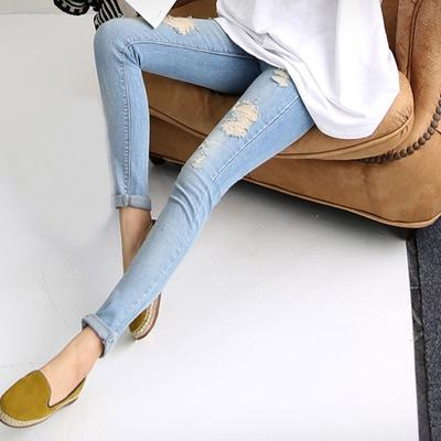 c64ac815c Los agujeros Jeans pantalones moda embarazo maternidad mezclilla ropa  embarazadas vientre pantalones