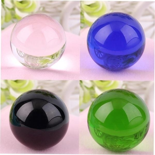 Stand Asian Rare Clear Magic Crystal Healing Ball Sphere Beautiful 40mm