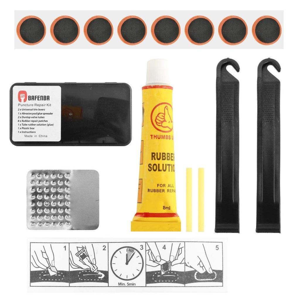1* Bike Bicycle Flat Tire Tyre Repair Tool Kit Rubber Patch Glue Lever Fix Sets