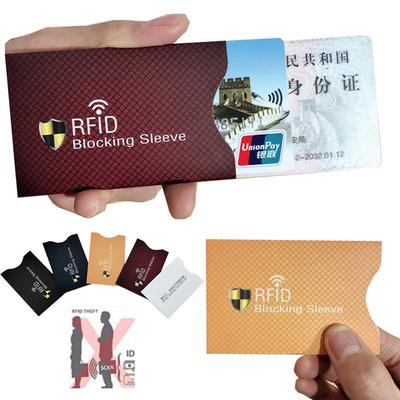 Credit Cards Protect Case Cover Paper Rfid Card Holder Aluminium Anti Thief