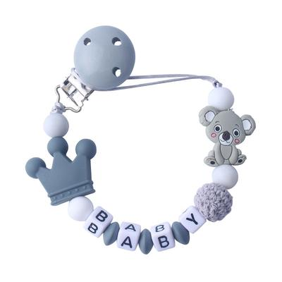 Baby Pacifier Clips Pacifier Chain Holder for Baby Teething Soother Chew Toy Clips