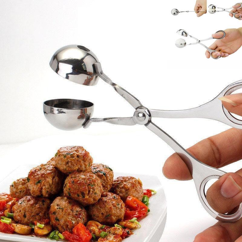 Home Maker Non Stick Meat Melon Baller Maker Stainless Steel Cookie Dough Meatball Scoop Small Size : S