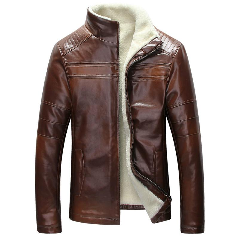 Mens Fur Lined Leather Winter Warm, Mens Winter Coats Fur Lined