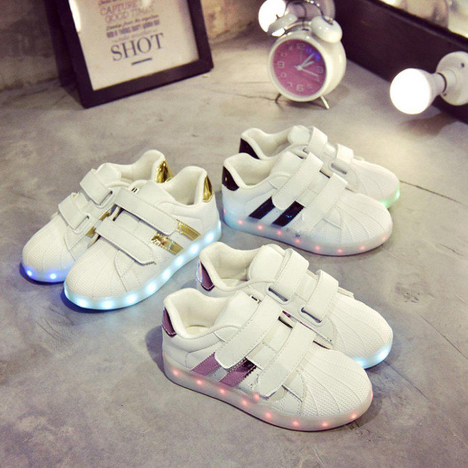 f2aded3d51f5 Kids Unisex LED Luminous Shoes Flashing USB Rechargeable Low-cut Sneakers- buy at a low prices on Joom e-commerce platform