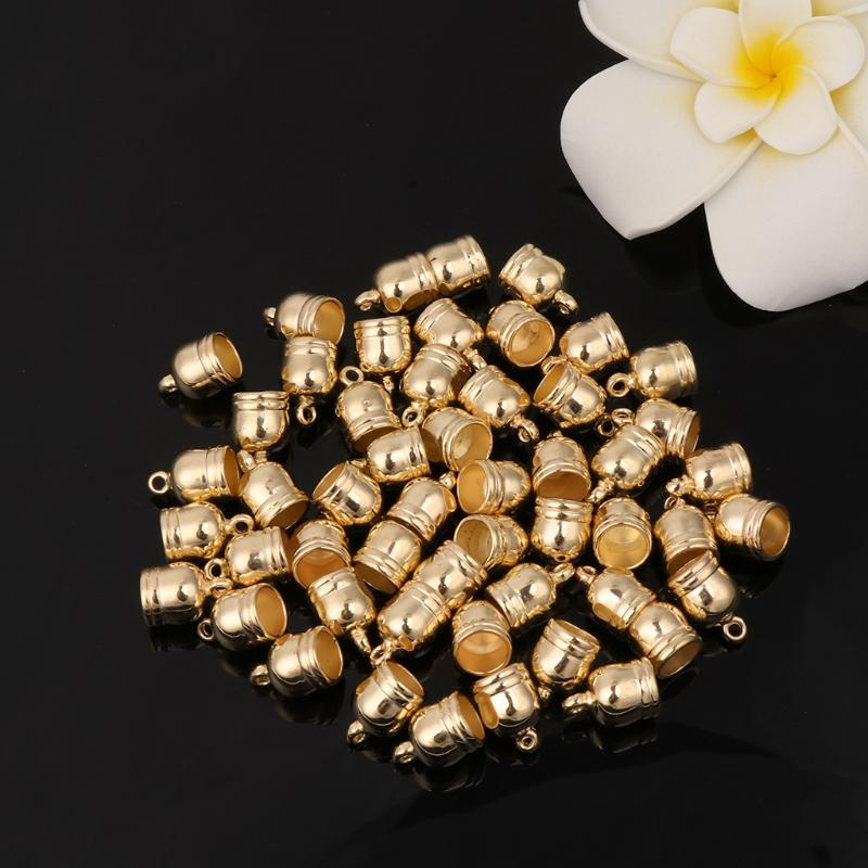 20pcs Alloy Bell End Cap Mesh Kumihimo Cord Jewelry DIY Making Supply Gold