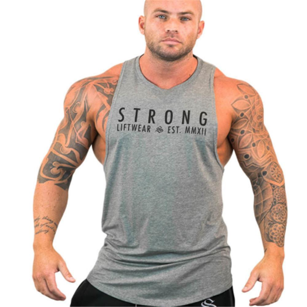 BOOMLEMON Mens Gym Workout Tank Tops Muscle Tee Training Bodybuilding Fitness T Shirts