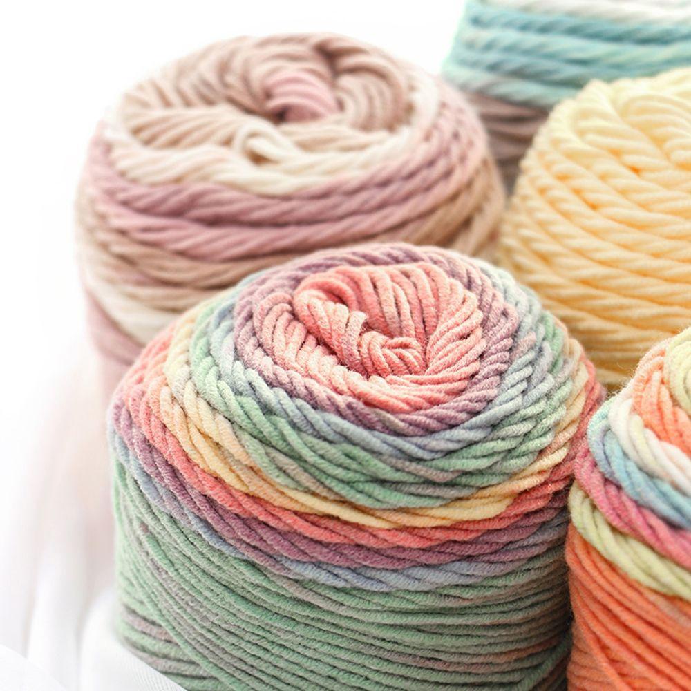 Полезный Радуга Цвет Толстый Теплый Diy Crochet вязание рука -Woven Молоко Мягкий Baby Хлопок Шерлоп пряжи – купить по низким ценам в интернет-магазине Joom