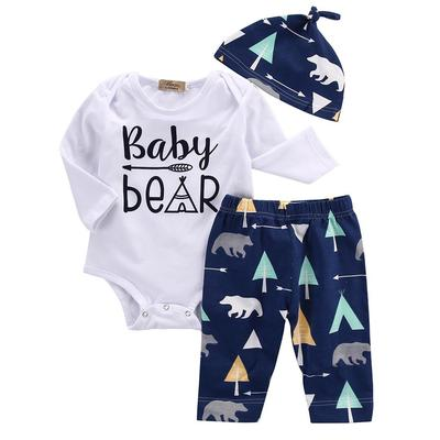 95a2bad3d Cute Newborn Infant Girl Boy Baby Beer Romper Pants Hat 3pcs Outfits ...