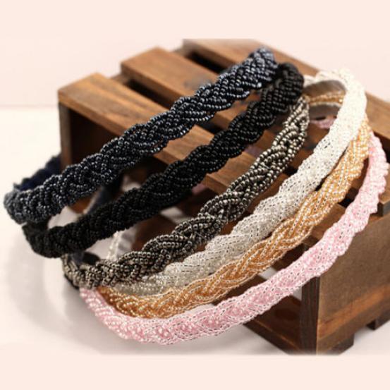 3x Rhinestone Headband Women Fashion Beaded Head Chain Hair Band Jewelry