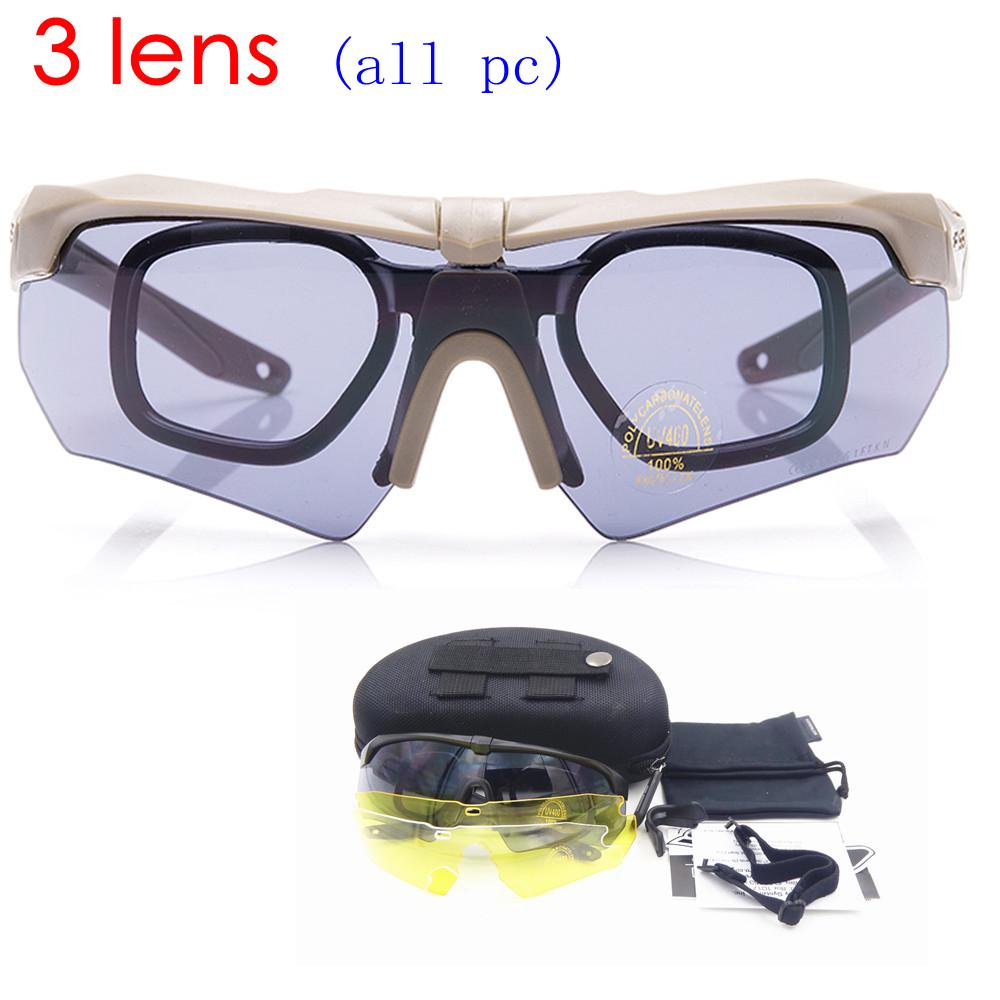 TR90 militares gafas 5 lente polarizada balístico militar ejército ... 60fa0ae50b4e