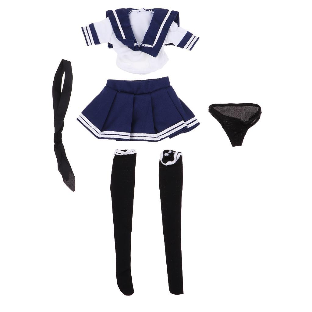 """1//6 Scale JK School Uniform Sailor Costume Set for 12/"""" Female Action Figure"""