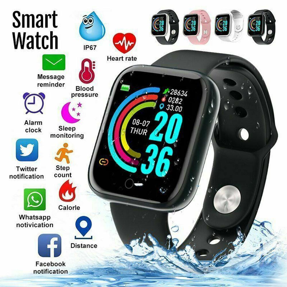 Умные часы Y68 Водонепроницаемый пульсометр-фитнес-браслет для IOS Android купить недорого — выгодные цены, бесплатная доставка, реальные отзывы с фото — Joom