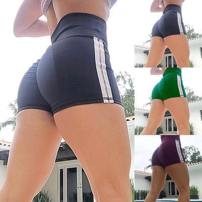 Women Sports Shorts Gym Workout Waistband Skinny Yoga Short