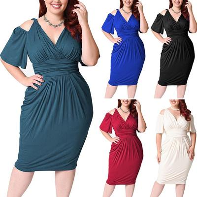 2be9a955915 SKEKET моды плюс размер повседневные платья без бретелек платье высокой  талии элегантное платье wssmC-171124020B48