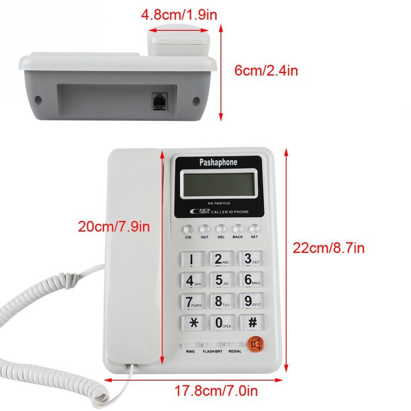 Corded Phone Big Button Landline Caller ID Desktop Telephone Home Hotel KX-T8001