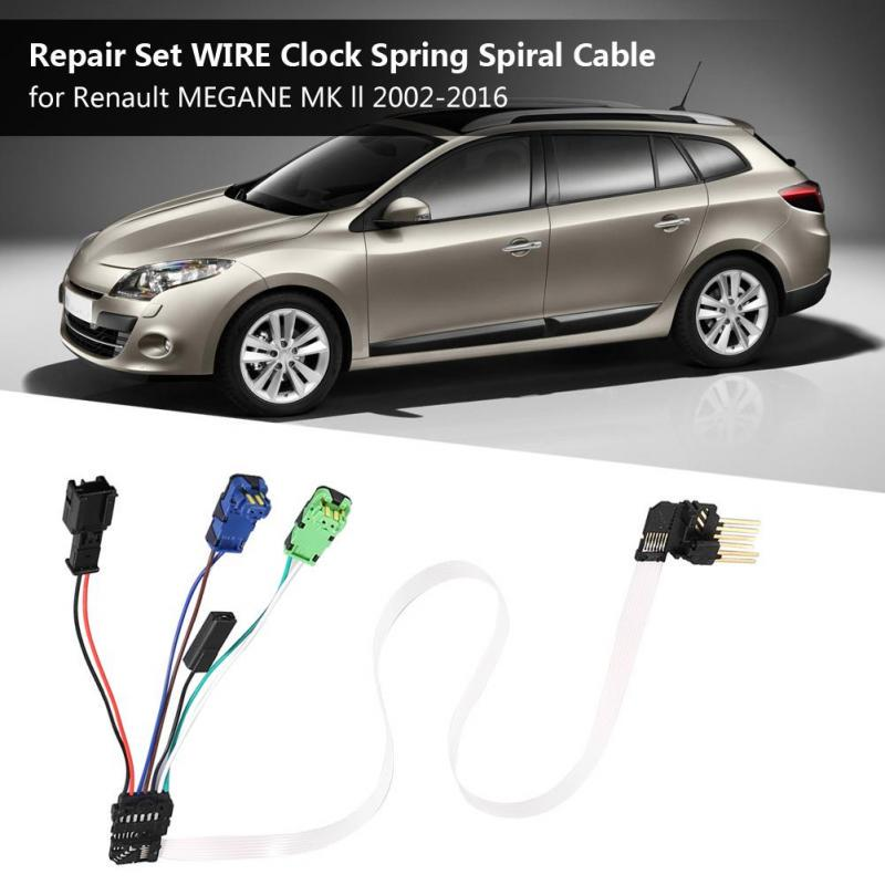 Wire Clock Spring Spiral Cable Clock Aluminum for Renault MEGANE MK ll2002-2016