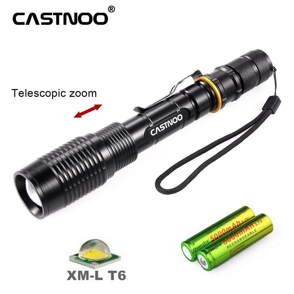 T6 Tactical Military LED Flashlight Torch 30000LM Zoomable 3-Mode for 18650