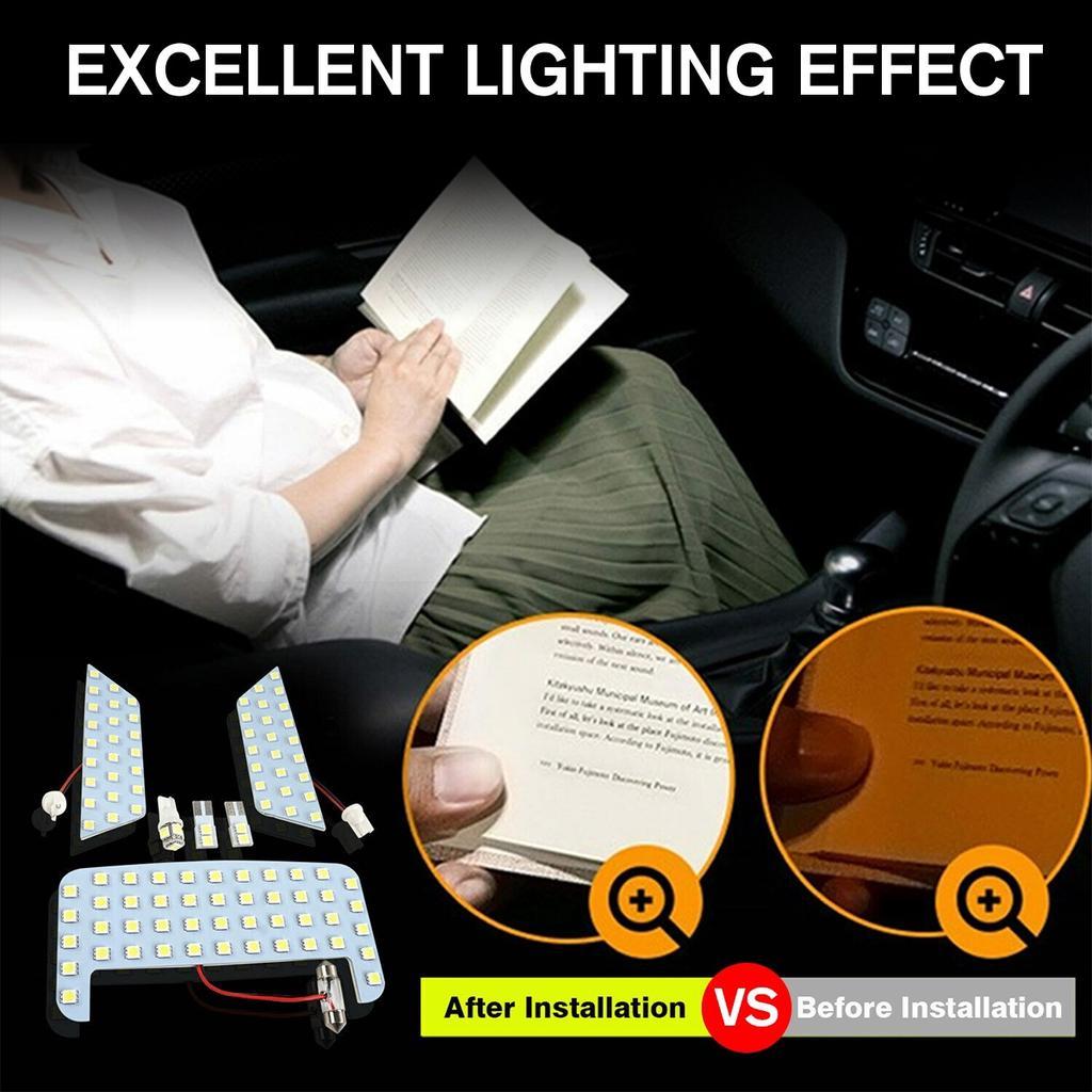 Автомобиль Интерьер Новый светодиодный лампочка Лампа Комплект Белая панель Чтение лампы для Toyota RAV4 2019 2020 – купить по низким ценам в интернет-магазине Joom