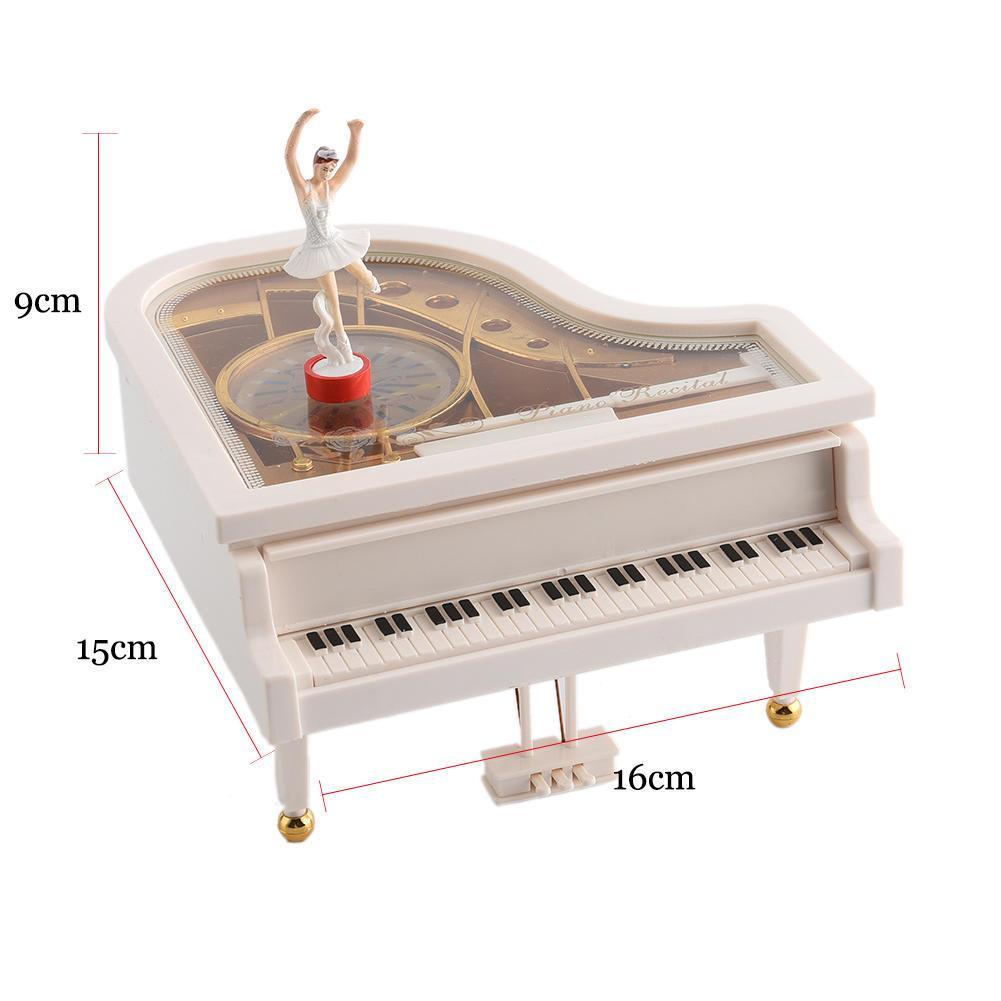 Заводной вращающийся пластик большая танцующая девушка пианино музыкальная шкатулка Музыкальная шкатулка домашний декор Chic – купить по низким ценам в интернет-магазине Joom