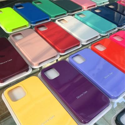 Liquid Silicone Gel Rubber Case Soft Microfiber Lining Protective Cover With Logo For iPhone XR XS Max 6 7 8 Plus 11 12 Pro Max