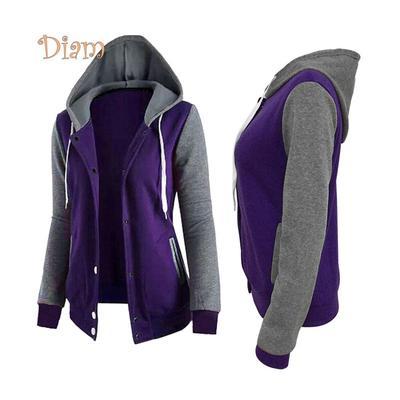 f818beb87edd Fetong осень спорта женщин цвет блока пальто толстовки футболки с длинным  рукавом с ...