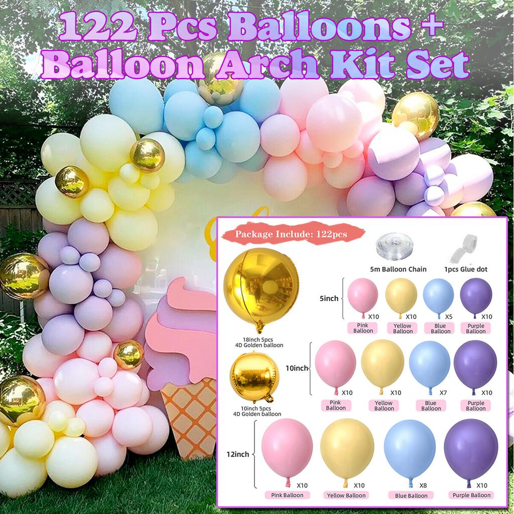Gold Balloon Garland Kit Arch  Wedding Decorations  Baby Shower Birthday Party Balloons Hen Decorations Backdrop Tropical Bachelorette