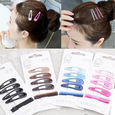 10 Mixed Color Enamel Snap Hair Grip Hair Clips Baby Bows Girls Hair  FE