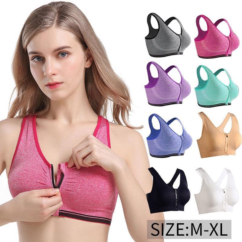 Push Up Gym Women Yoga Sports Top Fitness Running Bra Padded Tank Athletic ZY