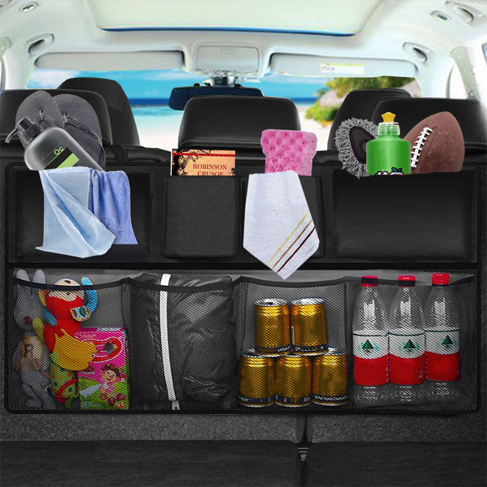 Coche Organizador De Arranque ordenado bolsa de almacenamiento de asiento trasero Colgante Accesorios De Bolsillo Grande