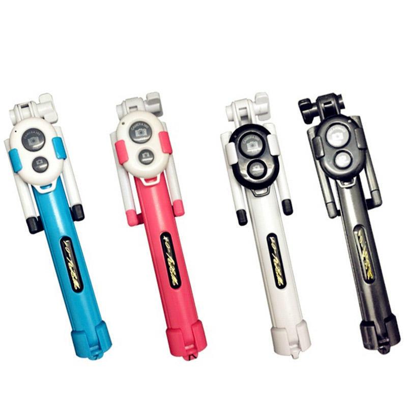 三脚架自拍杆一体蓝牙手机通用自拍神器全身照集体照视频录像支架