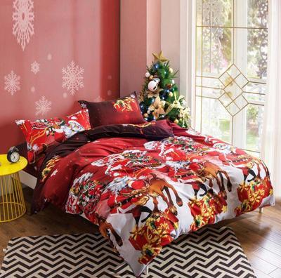 Постільна білизна встановити щасливого Різдва ковдру кришку подарунок  домашнього текстилю постільної білизни м які твердих b081bda1cb598