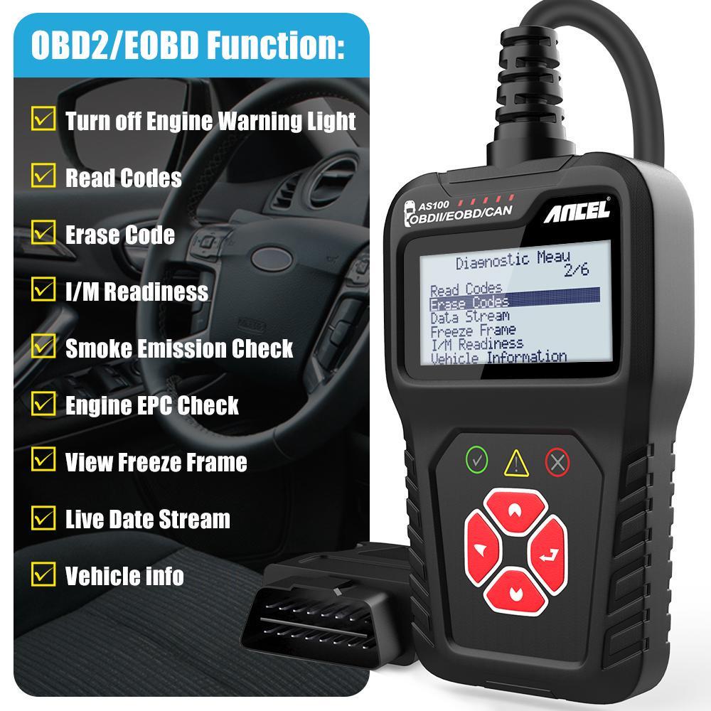 Ancel AS200 OBD20 Scanner Auto Diagnose Werkzeug überprüfen Engine ...