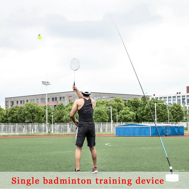Vaorwne Badminton Trainer Stretch Badminton Robot Racket Training Sports Self-Study Practice Machine Badminton Stroking