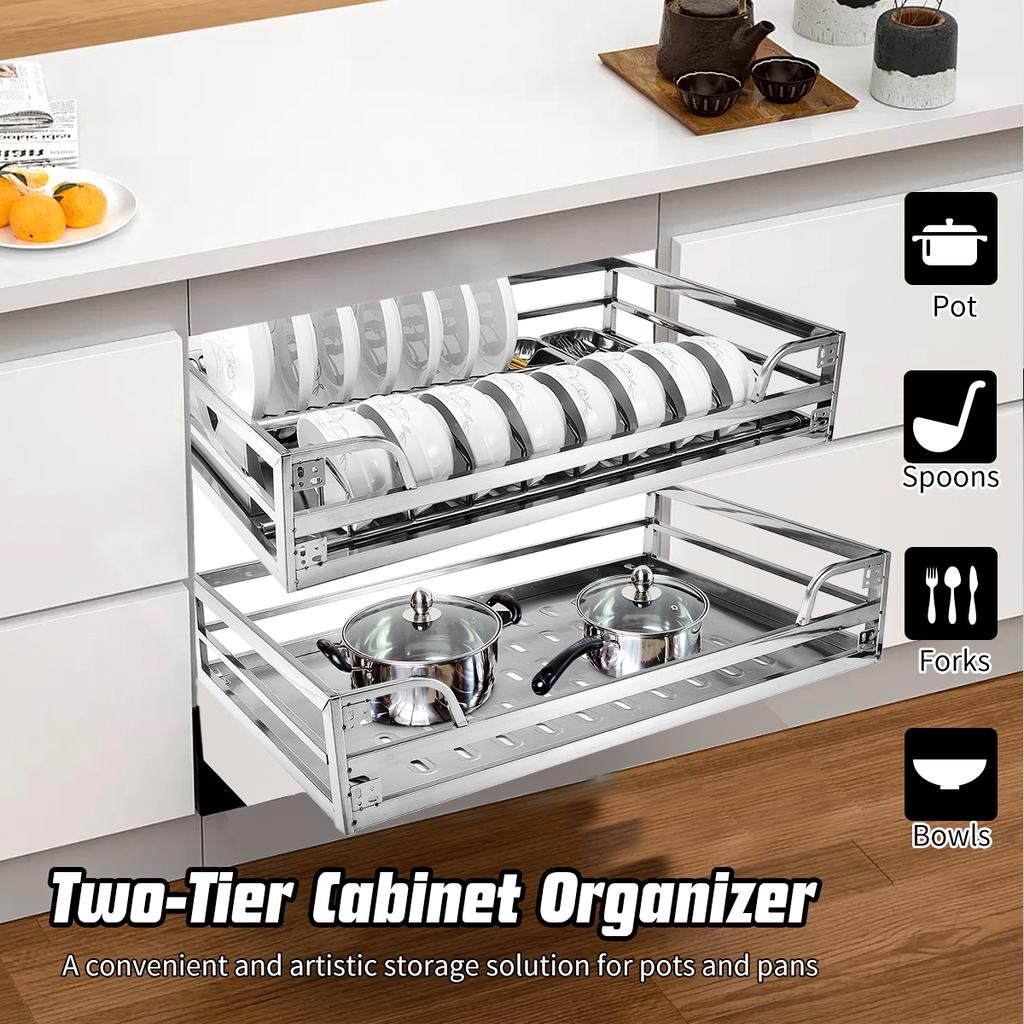 Buy 3 Sizes Large Capacity Pull Out Basket Stainless Steel Dish Drawer Kitchen Cabinet Tools At Affordable Prices Free Shipping Real Reviews With Photos Joom
