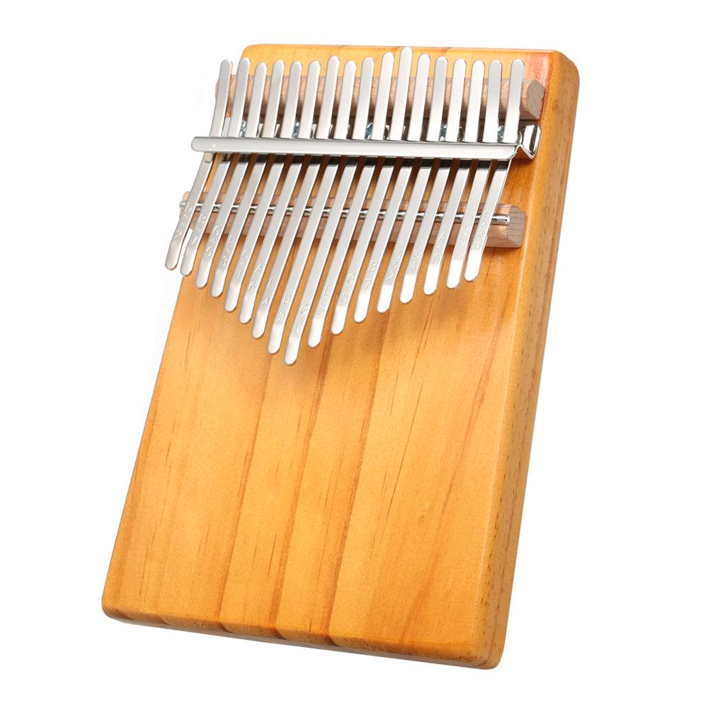 Muslady 17-Key Kalimba Case Thumb Piano Mbira Box Bag Water-resistant Shock-proof with Finger Stall Cleaning Cloth