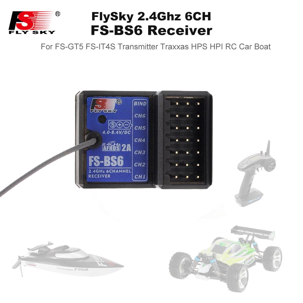 Flysky FS GT5 2.4G 6CH Gyro Transmitter Remote BS6 Receiver for RC Car Boat